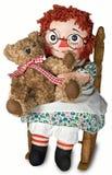 Doll met teddybeer Stock Afbeeldingen