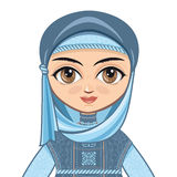 The doll in Muslim dress.  Avatar Royalty Free Stock Images