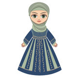The doll in Muslim dress. Royalty Free Stock Image