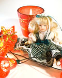 Doll and New Year Royalty Free Stock Photography