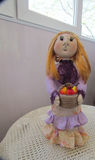 Doll of nylon stocking Royalty Free Stock Image