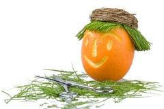 Doll orange in hair salon $) Stock Photography