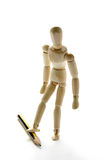 Doll and pencil stock photography