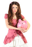 Doll and pig Royalty Free Stock Images