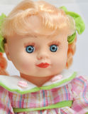 Doll in a pink dress Royalty Free Stock Photography