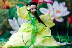Doll playing taichi Stock Image