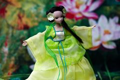Doll playing taichi Royalty Free Stock Photography