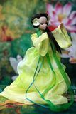 Doll playing taichi Royalty Free Stock Images