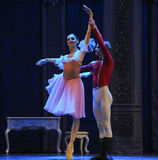 The doll prince and Clara dancing -The Ballet  Nutcracker Royalty Free Stock Photo