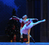 The doll prince and Clara dancing -The Ballet  Nutcracker Royalty Free Stock Image