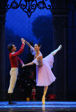 The doll prince and Clara dancing -The Ballet  Nutcracker Stock Photo