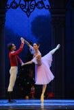 The doll prince and Clara dancing -The Ballet  Nutcracker Stock Photo