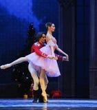 The doll prince and Clara dancing -The Ballet  Nutcracker Stock Photos