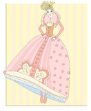 Doll - a princess Royalty Free Stock Photography