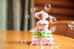 Doll Princess and the pea Stock Photography