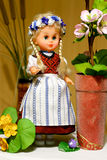 Doll in Prussian folk costume. Craft Royalty Free Stock Image