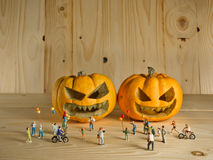 doll and pumpkin for halloween Stock Photography