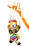 Doll puppet in hand Stock Images
