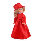 Doll in red dress Stock Image