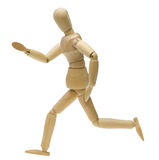 Doll in running pose Royalty Free Stock Images