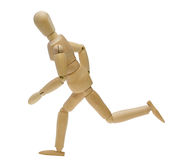 Doll in running pose Royalty Free Stock Image