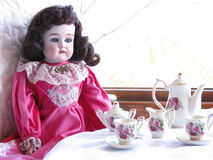 A Doll's Tea Time Royalty Free Stock Image
