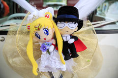 The doll of Sailor Moon and Mamoru chiba Stock Image