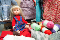 doll with several dresses Royalty Free Stock Photography
