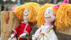 Doll on Shrove Tuesday stock video footage