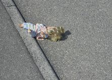 Doll on the street Royalty Free Stock Images
