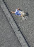 Doll on the street Royalty Free Stock Photography