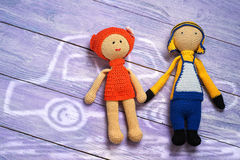 Doll stuk speelgoed Royalty-vrije Stock Afbeeldingen
