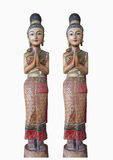 Doll. Thailand style,Wooden carvings,welcome Royalty Free Stock Image