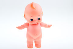 A doll toy. White background a naked pink dolls Stock Photo