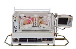 Doll in Transportable Incubator Royalty Free Stock Photos