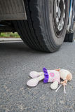 Doll and truck Royalty Free Stock Photos