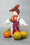 Doll in Ukrainian costume Royalty Free Stock Images