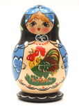 Doll van Babushka Royalty-vrije Stock Afbeelding