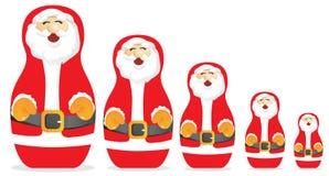 Doll van Clauss van de kerstman Stock Afbeeldingen