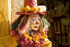 Doll van de Marionet van de clown Stock Foto's