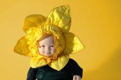 Doll van de zonnebloem Stock Foto's