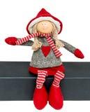 Doll van Kerstmis Royalty-vrije Stock Foto's