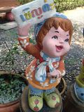 Doll wellcome. Hello, Dolly front my home Royalty Free Stock Photos