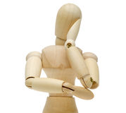 Doll which rest its cheek on its hand. Pictured the doll which rest its cheek on its hand Royalty Free Stock Photos