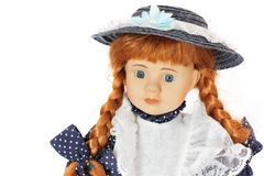 Doll on a white background royalty free stock images