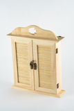 Doll wooden wardrobe Stock Images