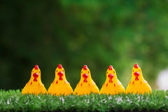 The doll yellow chicken Royalty Free Stock Photos