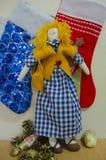 Doll zacht stuk speelgoed Stock Afbeelding