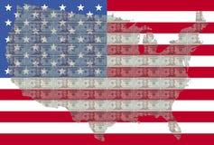 dollaröversikt USA för 20 bills vektor illustrationer