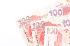 100 dollar är den nationella valutan av Hong Kong Fotografering för Bildbyråer